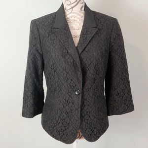 The Limited black lace blazer jacket size medium